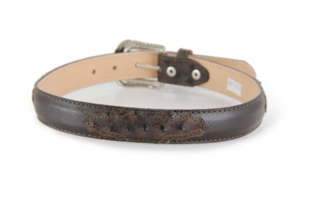 Embossed Ostrich Print Brown