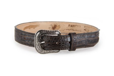 Embossed Caiman Print Brown