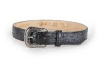 Embossed Caiman Print Black