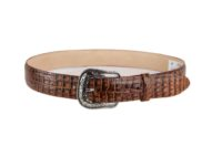 Embossed Caiman Belly Cognac