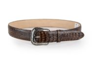 Embossed Caiman Belly Brown