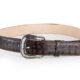 Embossed Argentino Crocodile Brown