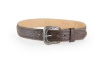 Hair-on with basket weave billet and antique silver concho
