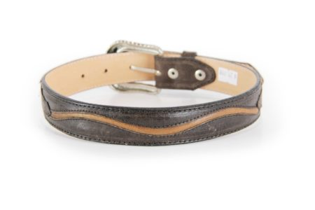 Crazy Brown with Tan Cording Detail